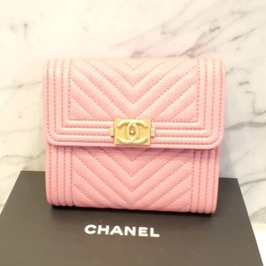Chanel -- Boy Bifold Wallet